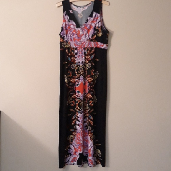 NY Collection Dresses & Skirts - NY Collection Like New Scroll Maxi Dress XL